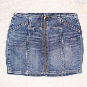 Abercrombie & Fitch Stretch Denim Mini Skirt